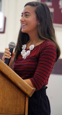 Candidates deliver speeches for Junior Class President