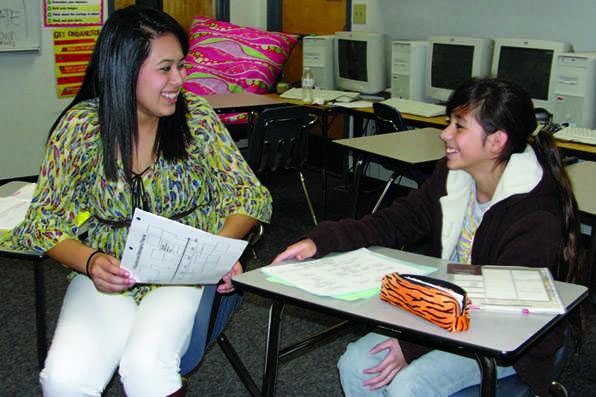 AVID students mentor at Haggard Middle School
