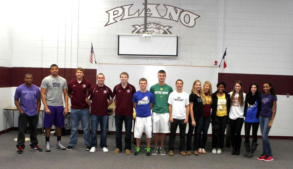 Athletes sign with universities