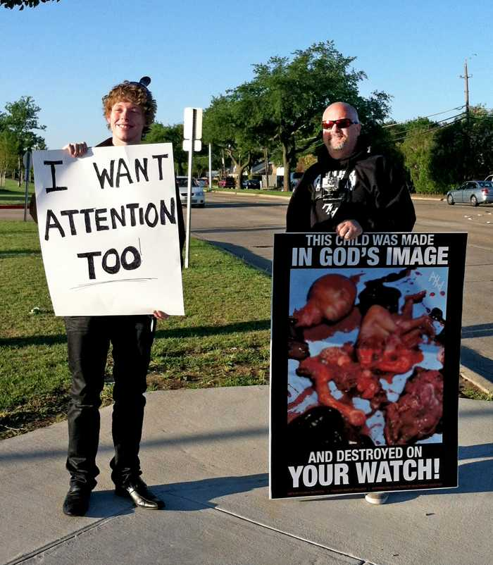 Abolish Human Abortion protests near campus
