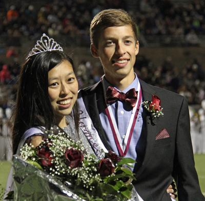 Homecoming King and Queen winners: Austin Beaver and Brenda Wong