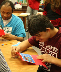 Digital design class spreads holiday spirit to special needs students