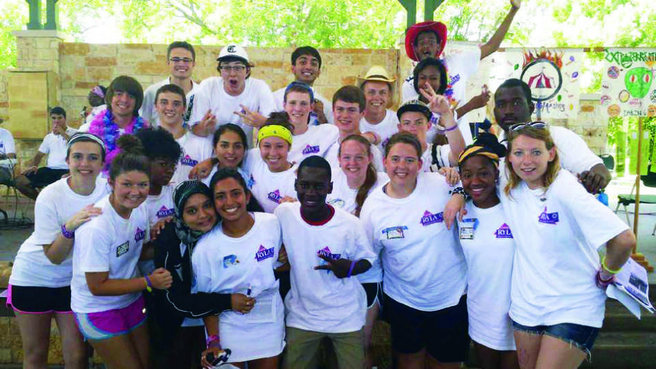 Balakrishnan attended Camp RYLA, Rotary Youth Leadership Award, with many other students.