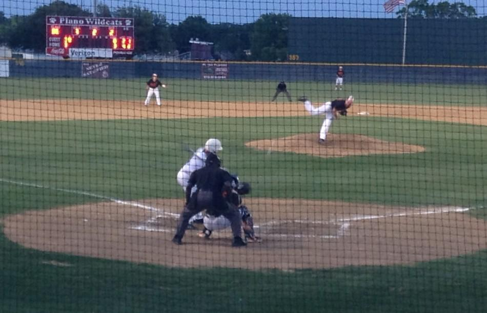 Sophomore A.J. Liu bats in the second inning of the Wildcats win over Rockwall Fri. night.
