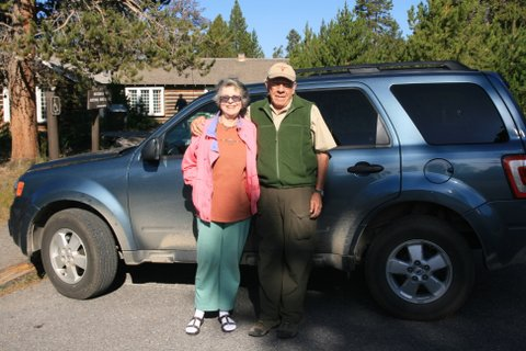 Jerry Kasten and his wife, Deanna Kasten at  the Norris Ranger Museum in Yellowstone.
