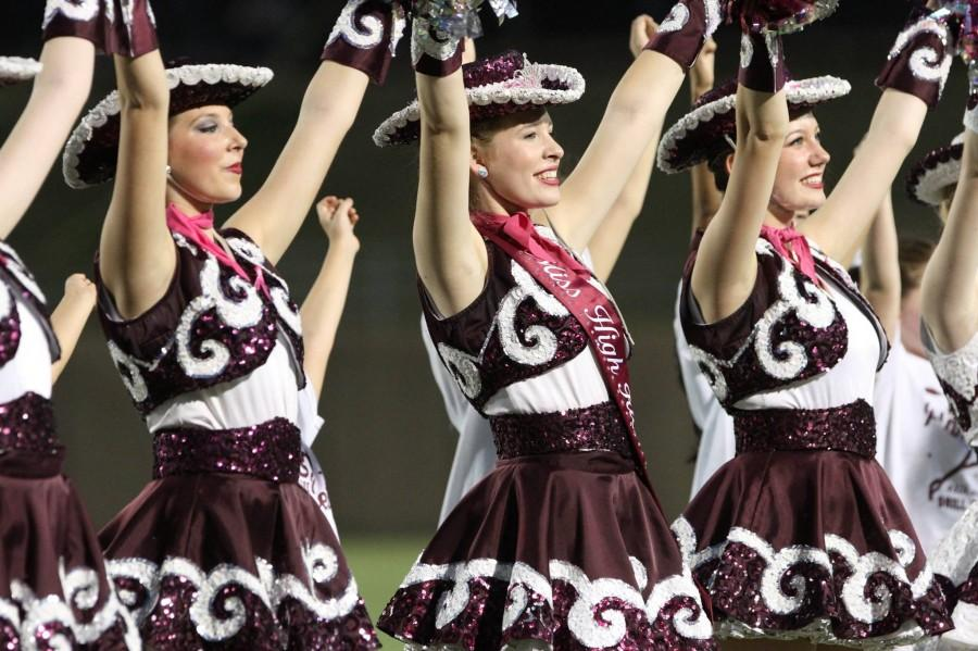 The+Planoettes+perform+at+halftime+during+the+Oct.+11+game+against+Plano+East.+Photo+by+Terry+Quinn.