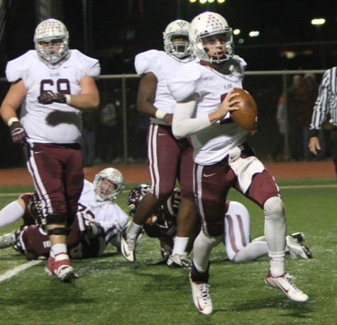 The Plano offense competes in their final regular season against Lewisville on Nov. 7. Photo by Terry Quinn.