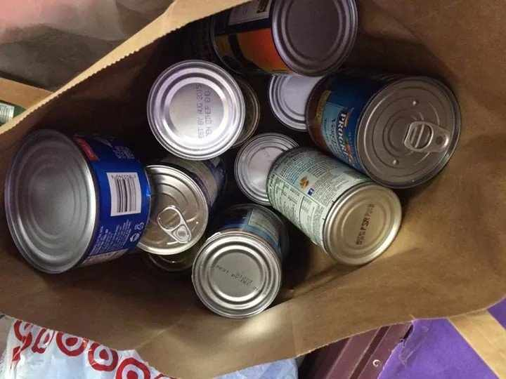 Boxes full of cans like these will be heading to the Plano Santas warehouse after the canned food drive concludes. We want to give back to the community and support our school, Fuchs said. Im looking forward to helping out our school and community.  Photo submitted by Ariel Fuchs.