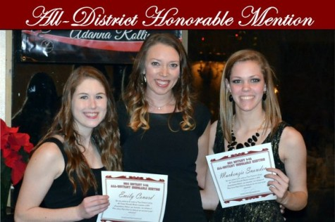 Sophomore Mackenzie Snowden and senior Emily Conard received an honorable mention. Photo from Plano Senior Volleyball.