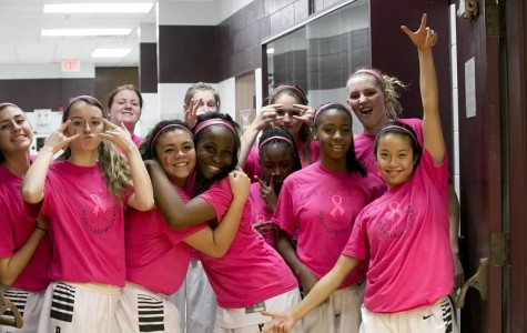 Girls basketball raises $1,000 for breast cancer awareness