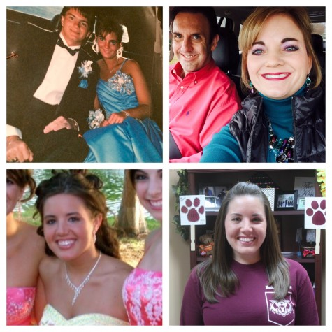 """AVID teacher Aimee Ratliff (top) and assistant choir director Rachel Franklin (bottom) attended Plano Senior before becoming teachers at the school. """"Originally I didn't want to be a teacher because of the lower pay,"""" Ratliff said. """"But it was a calling."""""""