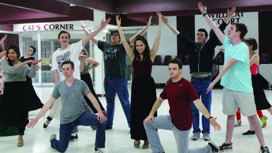 The cast of Hello, Dolly practices for their upcoming performance. Photo by Erienne Terpak.