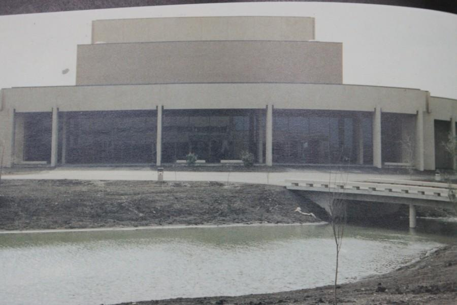 The fine arts building in 1976. According to Dr. Dean, the strong tradition of the fine arts has continued from the beginning.