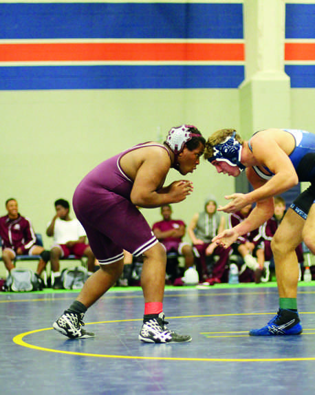 Plano wrestling in action during the McKinney North duals on Jan. 16 at McKinney North High  School. Photo by Kelly Jones.
