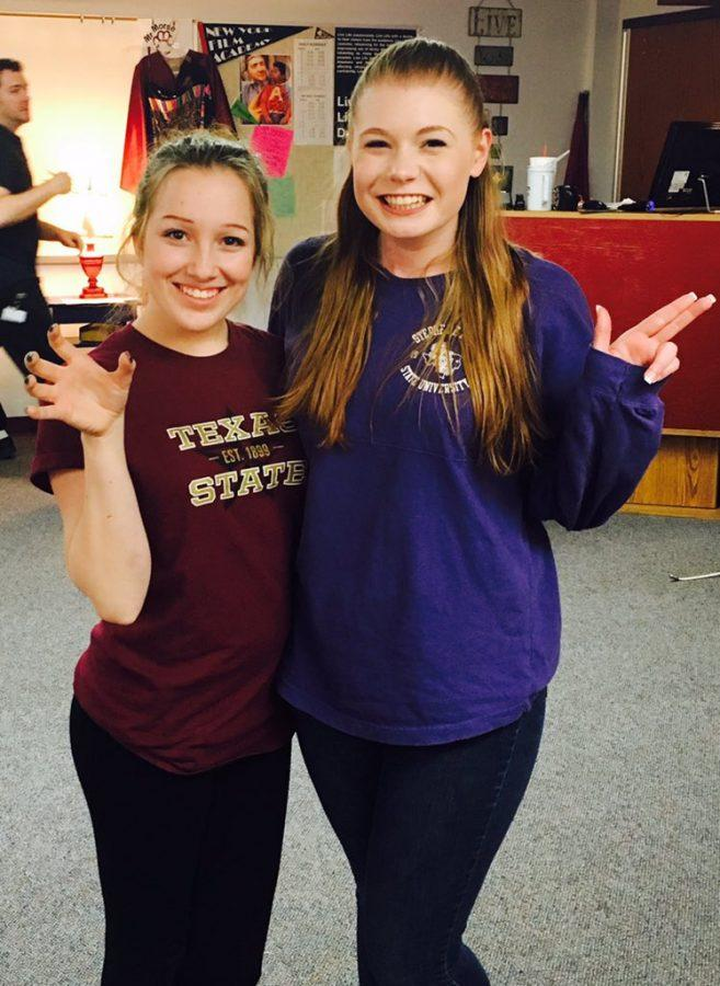 From left to right: Payton Mayfield (Texas State University) and Bethany Lamastus (Stephen F. Austin State University)