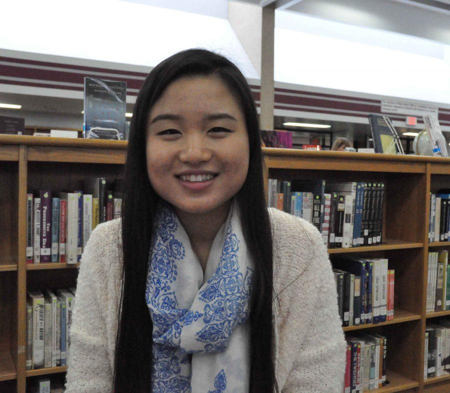 Senior Wendy Wang plans to pursue a career in computer science. (Photo by Ted Wu)