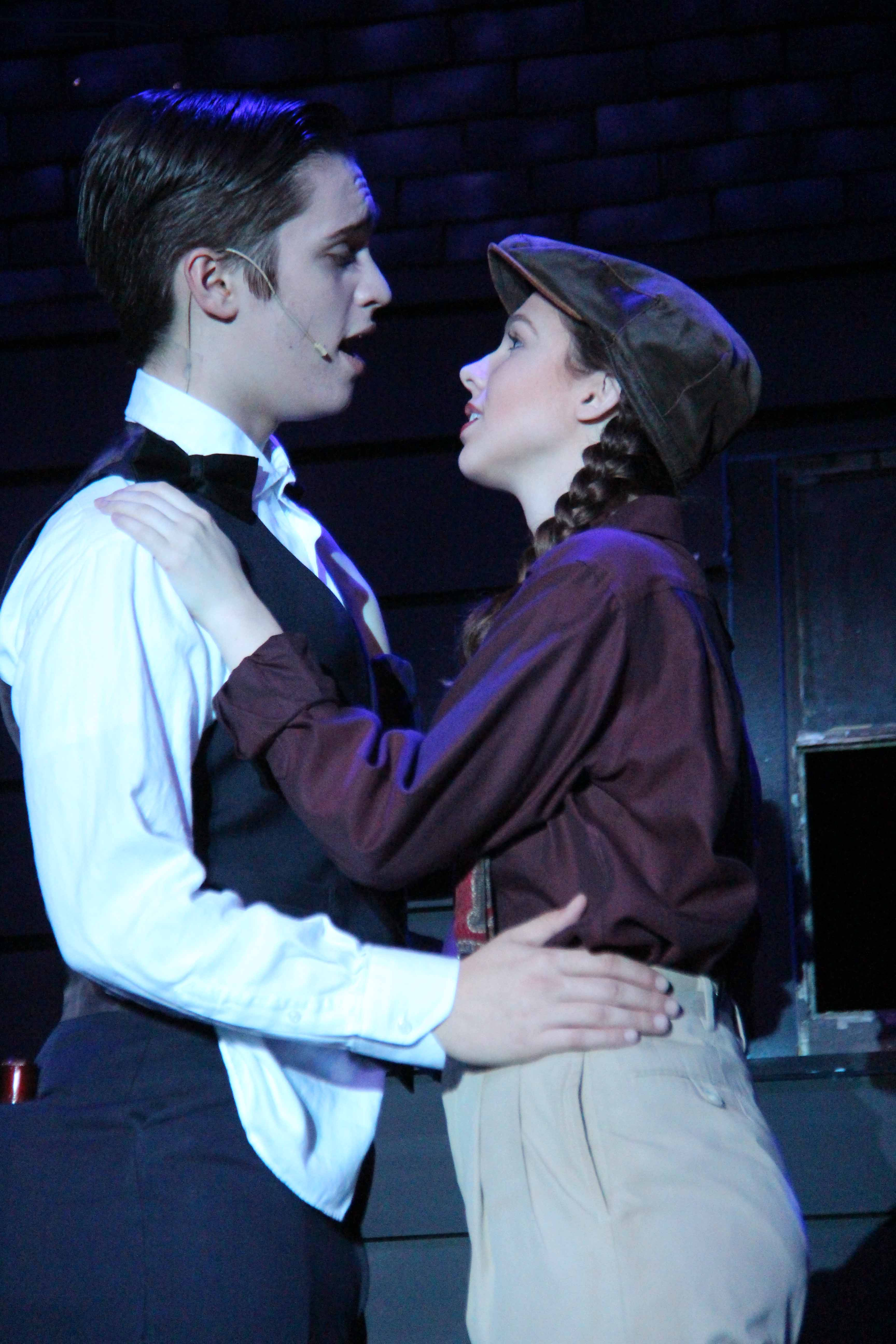 Max Kuenzer and Sydney Hamil performing in Nice Work If You Can Get It. (Photo by Vincent Galicha)