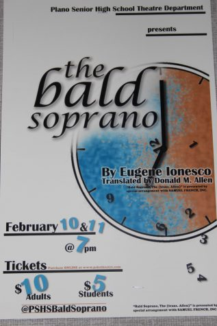 Bald Soprano poster (photo by Abby Zimmardi)