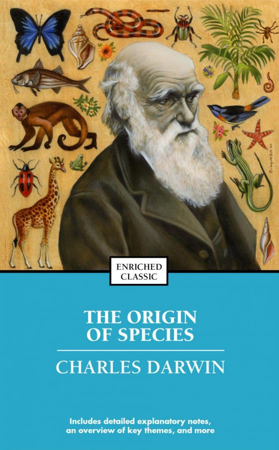 The Origin of Species is a book that is banned in the US because of  how wildly outrageous it's ideas were when it was published.