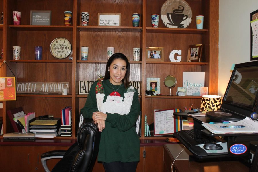 Counselor Grace Delgado is always present in her office for anyone in need.