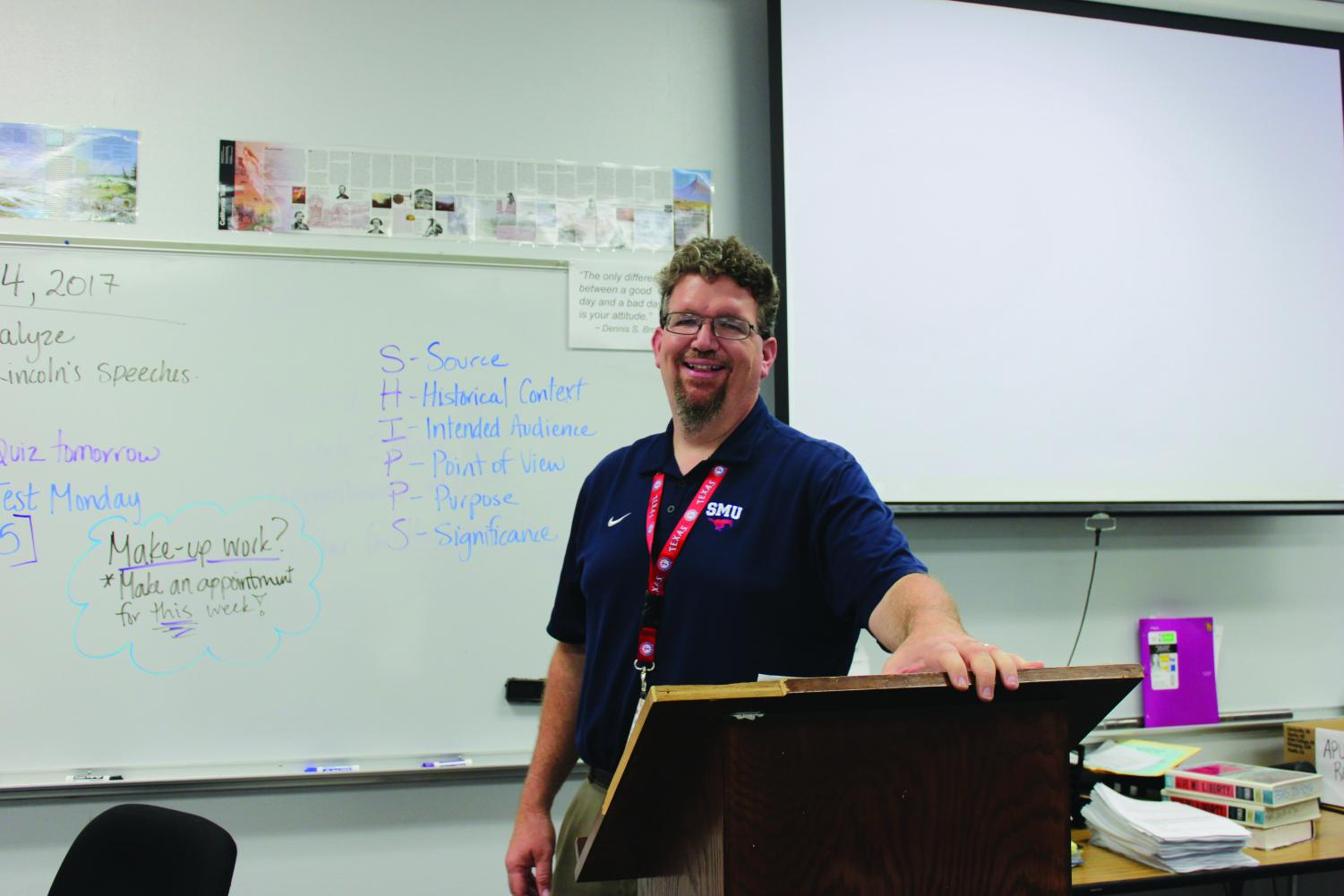 U.S. History teacher Matt Cone, always ready and willing to help students in need whether it be tutoring, a sympathetic ear or a safe ride home.