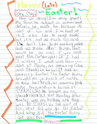 Pen Pals exchange letters elementary kids