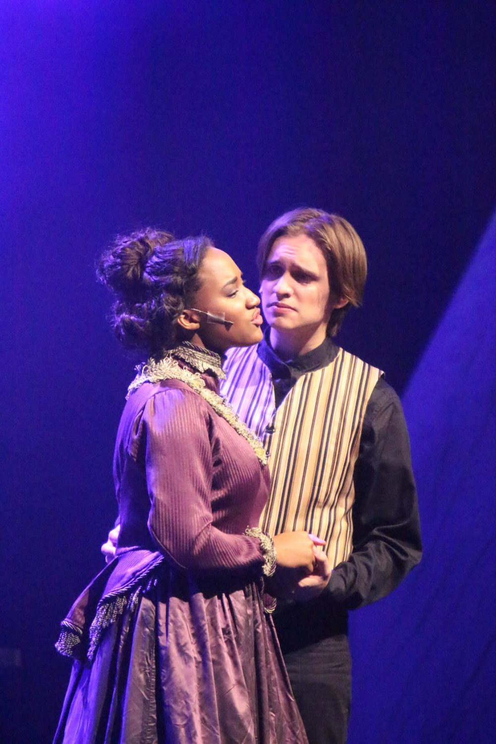 Seniors Max Kuenzer and Marlei Dismuke portray Jekyll and Emma. (photo by Belle Maucieri)