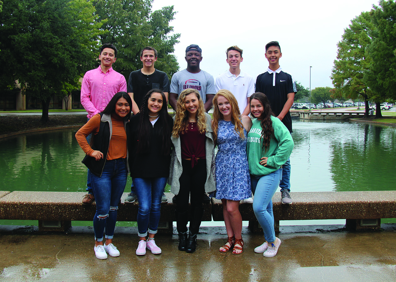 Homecoming senior king and queen candidates are: first row, Caleb Yu, Bryce McDaniel, Kyron Cumby, Sam Dlott, Rico Saldivar. Second row: Aiondra Vegara, Izzy Torres, Caroline Cloud, Kendall Guillory, Phoebe Hamilton. Inset photo: Junior prince and princess Abby Christian and Evan Lemon.