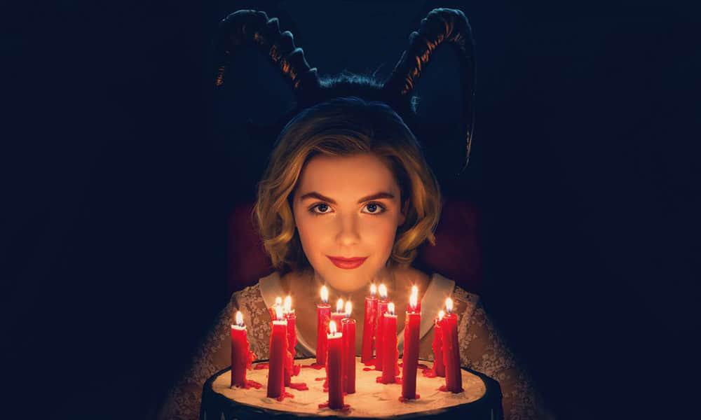 Kiernan Shipka showing her inner witch in promotional poster