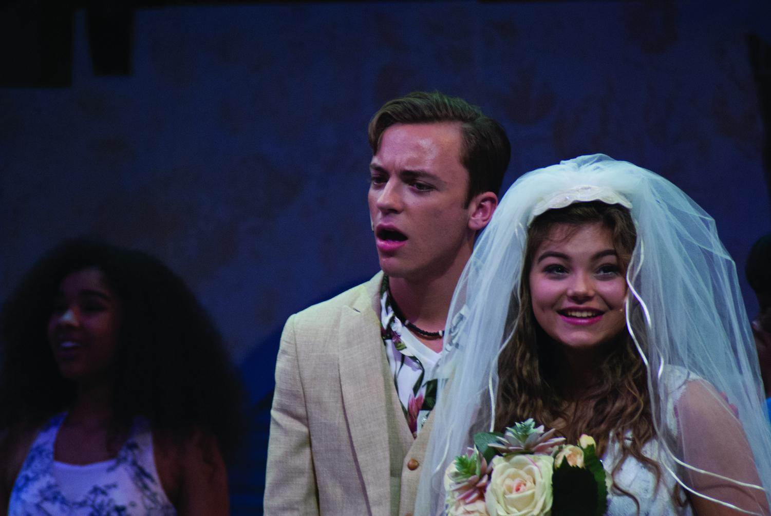 Juniors Heath Jackson and Laura Bernius performing as Sky and Sophie on premiere night of the Mamma Mia show.