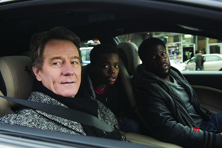 Bryan Cranston as Phillip, Jahi Di'Allo Winston as Anthony and Kevin Hart as Dell all star in The Upside