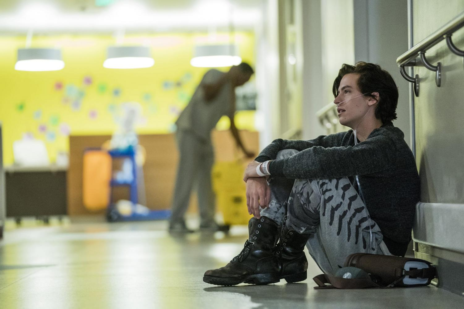 Cole Sprouse as Will in film adaptation, Five Feet Apart. (image from CBS films)