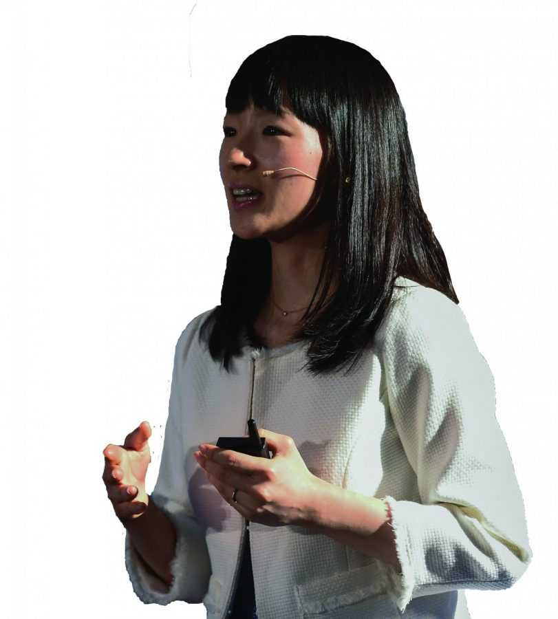 Image of Marie Kondo expressing speaking about the importance of decluttering your home and your life.