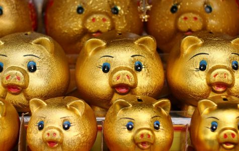 Golden Piggy bank is symbolic of the peace that saving can bring to one's life.