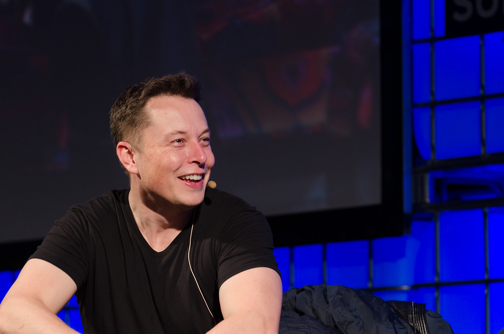 Elon Musk, the man behind Neuralink, at the Summit 2013 Convention