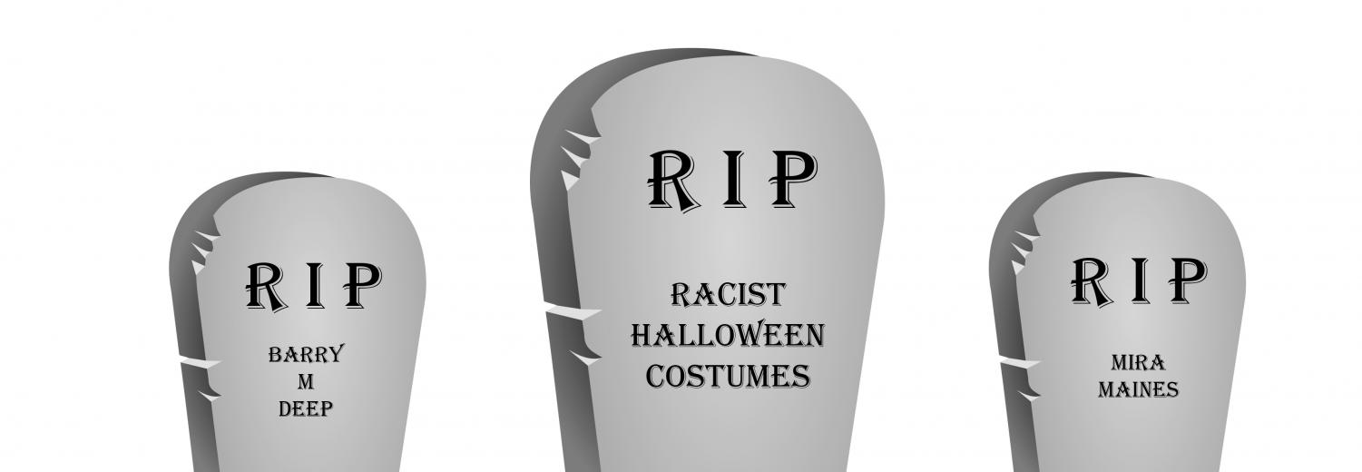 Image representation of racist costumes needing to be put to rest.