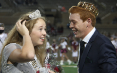 Homecoming Queen Alexis Piorkowski with King Aidan Kelly