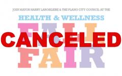 Health and Wellness fair cancelled
