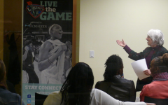 Women at a Title IX panel where discussions of gender bias in sports happen